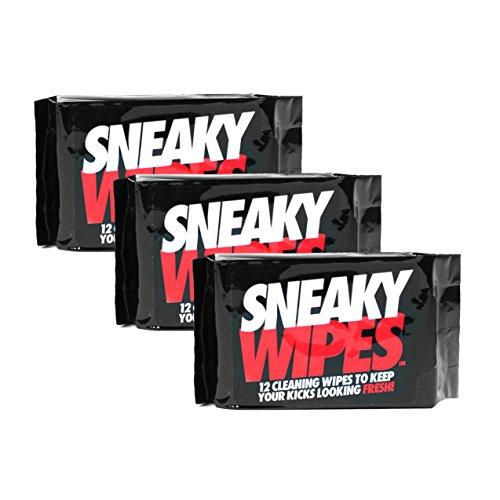 Sneaky Wipes - Lingettes nettoyantes pour chaussures et baskets - 3 paquets - 36 lingettes