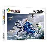 ZTCLXJ Rompecabezas 1000 Piezas Chica Montando Un Caballo 1000 Piezas Puzzles Junior para Adultos Y Niños Juguete Educativo para Desarrollar La Imaginación De Los Niños (75 × 50 Cm)