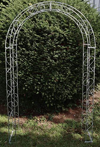 Hirsch Terracotta Rosenbogen Rund aus Metall stabil, Vollmaterial, Zink, Feuerverzinkt Breite 140cm, Höhe 245cm, Tiefe 40cm, Rankgitter