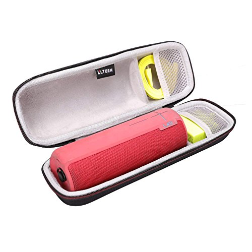 LTGEM EVA travel carry bag for ultimate ears UE BOOM 2 wireless Bluetooth speaker fits USB cable and wall charger.