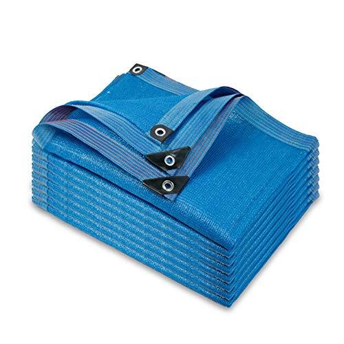Sunblock Schatten Tuch Netz mit Tüllen, Sonnenschutz Stoff for Außen Garten Pergola Pflanze Deck Chair, Stoff Mehr Größen UV-beständig Schatten Netting blau (Size : 2x6m)