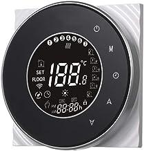 Termostato de calentamiento de caldera,Baugger- Caldera digital de agua/gas Termostato de calefacción Pantalla táctil LCD ...