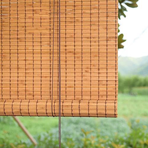 Yao Cortinas antimoho Decorativas Retro, Cortina de bambú Opaca con Accesorios de instalación, persianas enrollables Exteriores para el Patio del Trasero con balcón Pergola, fácil de Instalar
