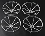 3 inch Prop Guard Propeller Guards Protectors for Crux3 Geprc CineQueen 3.1 inch Micro Carbon Fiber FPV Racing Quadcopter Quad Frame kit RC Drone Frame 1104 1306 brushless Motor (Transparent)