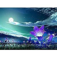 5D DIY ダイヤモンド塗装キットフルダイヤモンドラウンドラインストーン刺繍家の壁の装飾の花の風景 30 × 40 センチメートル