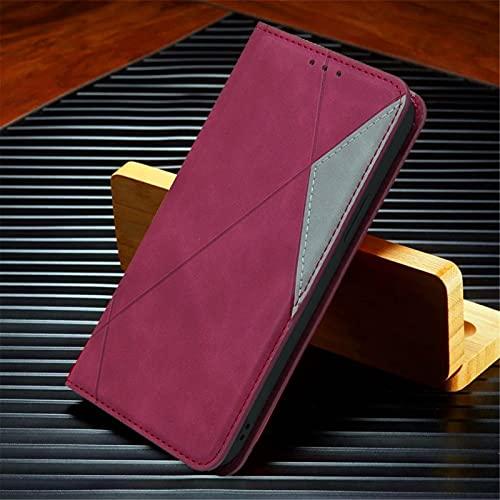 HHF-1 1fortunate Cajas del teléfono para Xiaomi Poco X3 NFC, Funda de Cuero Cubierta de la Billetera para Redmi Note 8T 9 Pro MAX MI 9T 10T Note 10 Ultra (Color : Rojo, Material : For Mi 9T(Pro))