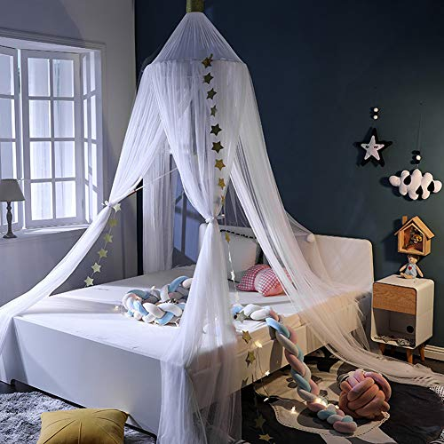YXZN Princess Bed Canopy Für Kinderzimmer Dekor Spielzelt Baby House Canopys Garn Girls Dome Netting Vorhänge Girls Games House Castle