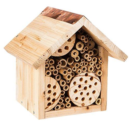 Evergreen Garden Wall Mounted Bee Habitat, Eco Friendly Insect Habitat...