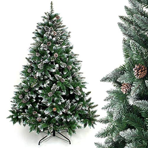 GJXJY Artificial Christmas Tree with Stand, Christmas Decorations Ornaments, Indoor and Outdoor Decoration Christmas Tree with Pine Cones, Easy Assembly210cm/7ft