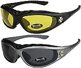 X-CRUZE 2er Pack Choppers 911 Sonnenbrillen Motorradbrille Sportbrille Radbrille - 1x Modell 03...