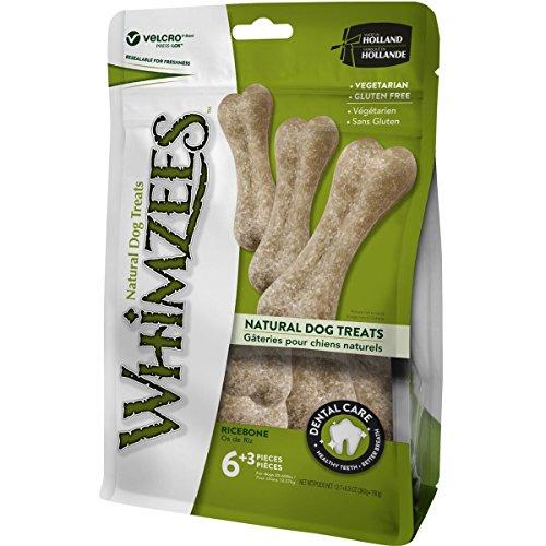 WHIMZEES Natural Dental Dog Mastica Larga duración, Hueso de arroz, 9 Piezas