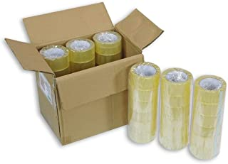 CLEAR STRONG PARCEL PACKING CLEAR TAPE CARTOON SEALING 2inch X 110 Yard - 36 Roll (1 Carton Box)