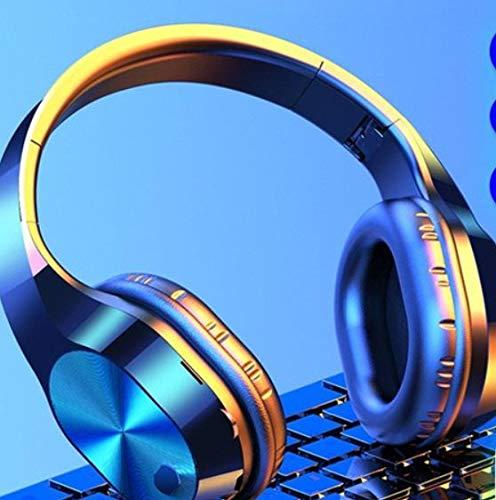 Auriculares Estéreo Auriculares Bluetooth Auriculares con Música FM Y Soporte para Tarjeta SD con Micrófono para Tableta Móvil Xiaomi iPhone Sumsamg