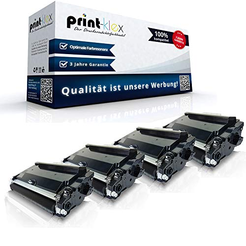 4x Kompatible Tonerkartuschen für Brother HL-L5000 D HL-L 5100 DN HL-L5100 DNT HL-L5100 DNTT HL-L5100 Series HL-L5200 DW HL-L5200 DWLT TN-3480 TN3480 TN 3480 Schwarz Black - Color Plus Serie