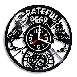 Grateful Dead rock band art vinyl wall clock, Grateful Dead design gift for any occasion