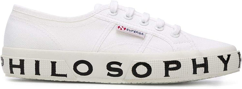 SUPERGA X PHILOSOPHY Women's J320171700001 White Cotton Sneakers