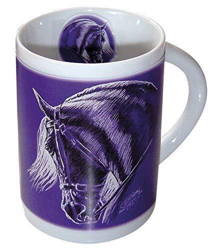 Beker Keramische Beker Koffie Mok met Paard Ontwerp - Barok - 57370 - Collectie bötzel