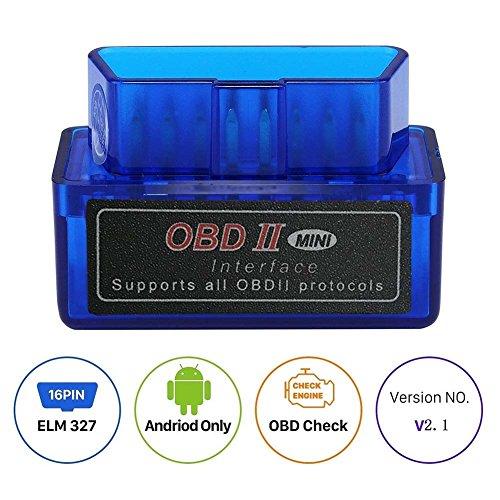 ELM327 Outil de diagnostic auto Bluetooth Dernière version 1.5 OBD2 II pour Windows Bleu