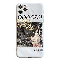 iPhone11pro電話ケース、面白い絵文字イラスト、柔らかい衝撃吸収バックカバー、全身保護、創造的な贈り物のための面白い絵文字イラスト iPhone Xsmax