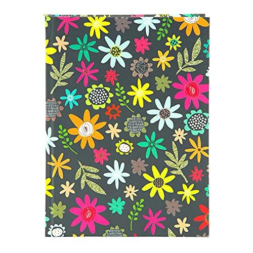 goldbuch 64 242 Blocing Tales - Cuaderno (DIN A5, con 200 páginas, papel de 100 g/m², cubierta de papel con relieve dorado y marcapáginas, aprox. 15 x 22 cm)