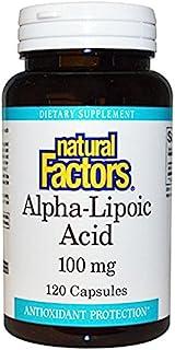 Alpha Lipoic Acid 100mg Natural Factors 120 Caps