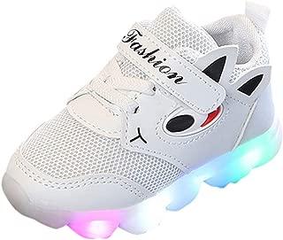 Scarpe Bambino Con Luci Maglia Sneaker Homebaby Coniglio Cartone Animato Luce a Led Scarpe Calcio Ginnastica Sportive Eleganti Bambini De Ragazzi Ragazze Casual Scarpe Regalo per bambini