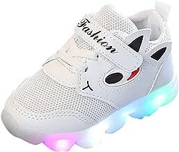Zapatillas de Deporte con Luces para Niños Niñas Primavera Invierno 2019 PAOLIAN Calzado Running Exterior Niñas Niños Zapatos de Primeros Pasos Bebés Bautizo Recién Nacidos Suela Dura