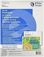 Elite Image ELI76013 Inkjet Postcard- Micro-perf- 5-.50in.x4-.25in.- White