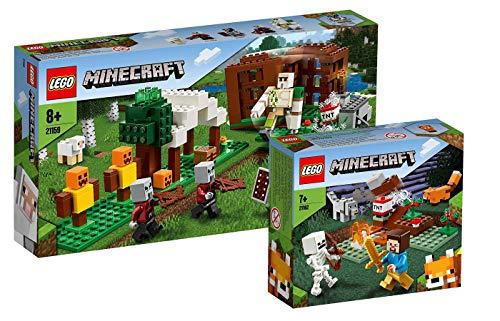 Collectix Lego Minecraft - Set: 21159 Der Plünderer-Außenposten + 21162 Das Taiga-Abenteuer