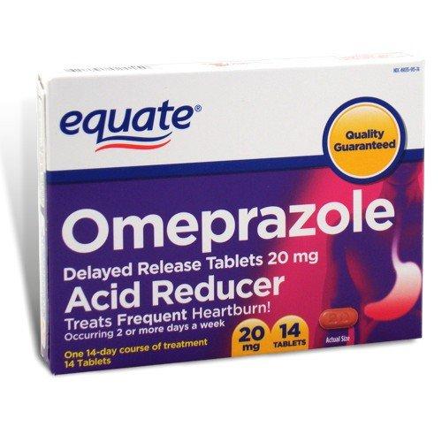 Equate - Omeprazole 20 mg, Acid Reducer Delayed-Release, 14 Tablets