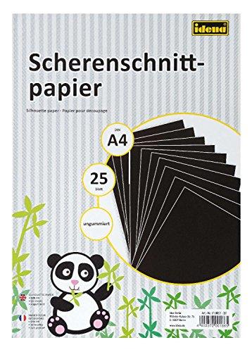 Idena 610051 - Scherenschnittpapier DIN A4, 25 Blatt, ungummiert, FSC