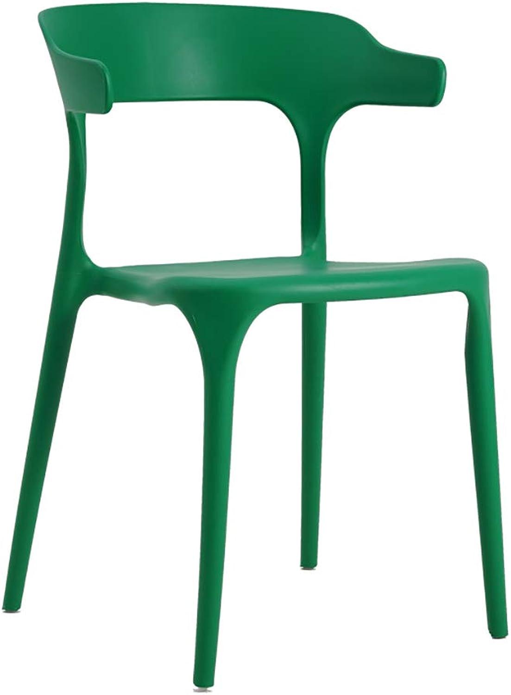 LYXPUZI Modern Minimalist Plastic Stool Restaurant backrest Chair Leisure Adult Home Horn Chair (color   B)