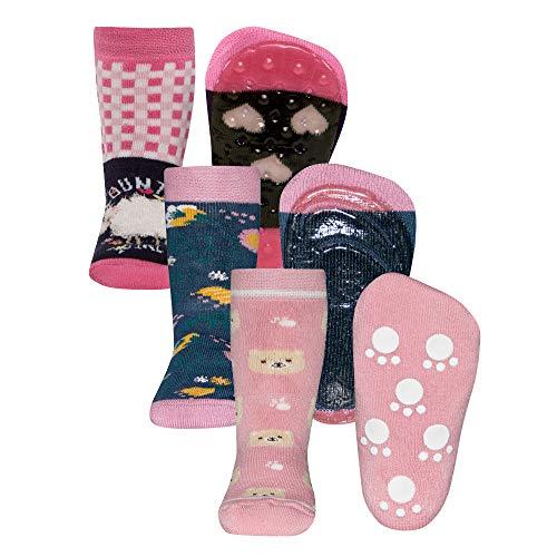 Ewers 3er Pack RESTPOSTEN SONDERPOSTEN - individuell gefüllt - Stoppersocken SoftStep/Vollsohle/ABS, Antirutschsohle für Mädchen, MADE IN EUROPE, Anti-Rutsch, ABS