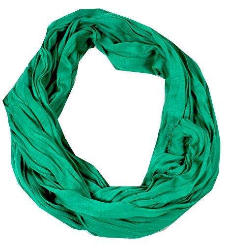 Taschentrend Kobaja - einfarbiger Schal Crinkle Look Tuch aus Baumwolle Stylisch Fashion Unisex Crushed und Crinkled