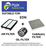 PWX Air Filter + Oil Filter + Cabin/Ac Filter For Hyundai Eon