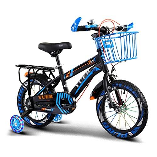Bicicletta per bambini Bici per Bambini 12 14 16 18 Pollici con Ruote da Allenamento e Cestino Bici per Bambini con Sedile Posteriore per Bambine Dai 2 Anni In Su ( Color : Style1 , Size : 12inch )