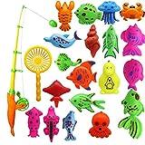 TOSSPER 22 Unids Infantil De Pesca Magnética del Juguete del Juguete del Juguete del Juego De Pesca para Y Niños Juguetes De Agua Interactivos