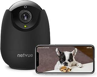 Netvue Cámaras Vigilancia WiFi Interior Full HD 1080P Cámara de Seguridad con Audio Bidireccional Detección de Humano Movimiento Visión Nocturna Cámara bebé Inalámbrica Compatible con Alexa