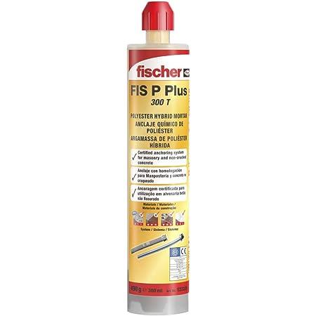 fischer   taco quimico ,resina poliester para fijar toldos, antena tv, escalera en hormigon, ladrillo hueco (300ml)