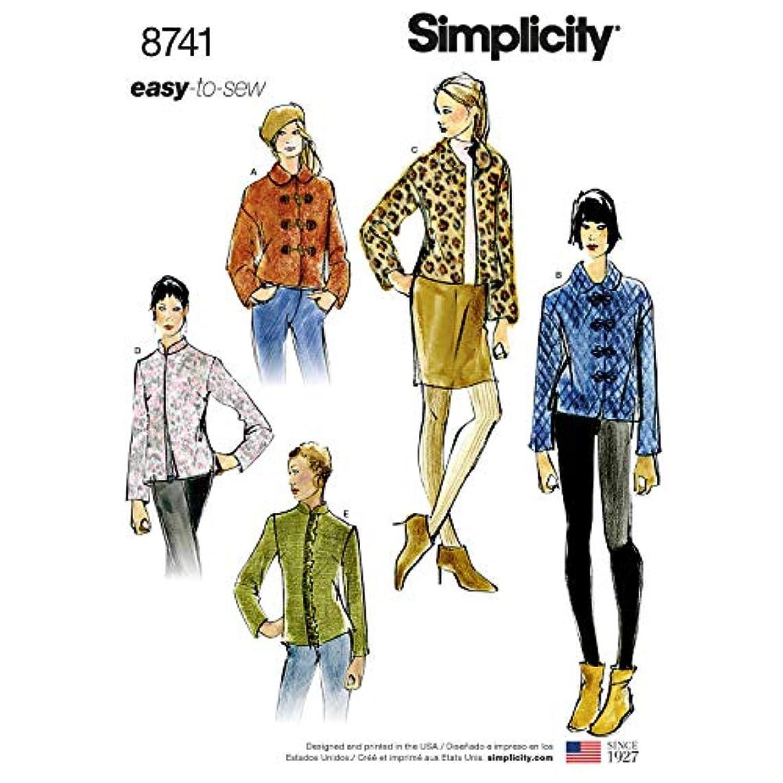 Simplicity Patterns US8741A Tops, Vest, JKTS, Coats, A (A (XS-S-M-L-XL)