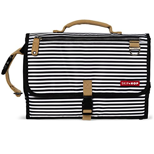 Skip Hop Pronto Mini Changer Black and White Stripe