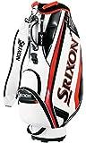 ダンロップ(DUNLOP) スリクソン キャディバッグ メンズ 軽量スタンダードモデル ホワイト 9.5型 GGC-S166 ゴルフバック
