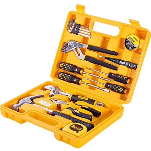 Caja de herramientas 16 piezas de reparación de Conjunto de Herramientas Cajas de coches juegos de herramientas portátiles Hardware Herramientas Herramienta de cofres multifuncional for el hogar Toolb