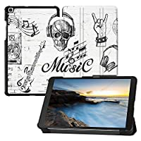 MAITTAO Samsung Galaxy Tab A 8.0 2019 Case T290 T295 T297, Slim Magnetic Leater Folio Shell Stand Cover for Galaxy Tab A 8.0 Inch Tablet With S pen Model SM- T290 SM-T295 SM-T297, Graffiti Wall 9