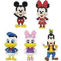 ミッキーとミニーブロックレンガのセットの子供たちのための玩具6+クリエイティブトレジャーボックス賞品
