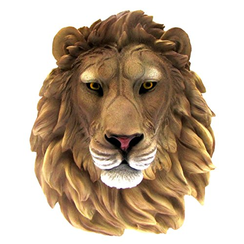 Life Size 3D Wall Mount African Lion Resin Head Kids/Childrens Room Jungle Decor