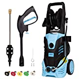 Electric High Pressure Washer Max. 3500PSI 2.4GPM Power Washer 2000W High Pressure Cleaner Machine with Spray Gun, 5 Nozzle Adapter, Long Hose and Hose Reel