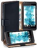 MoEx Funda Cartera [protección 360°] Compatible con HTC Desire 820 | Cierre magnético, Noir
