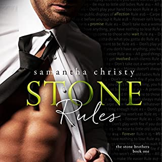 Stone Rules (A Stone Brothers Novel)                   Auteur(s):                                                                                                                                 Samantha Christy                               Narrateur(s):                                                                                                                                 Jason Clarke Erin Mallon                      Durée: 9 h et 53 min     9 évaluations     Au global 4,3