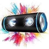 Kabelloser Bluetooth Lautsprecher,40W Tragbarer Speaker mit 7 Farb-LED-Leuchten,DSP,TWS Stereo Sound,Intensiver Bass, Bluetooth 5.0,IP67 Wasserdicht Soundbox für Outdoor, Party
